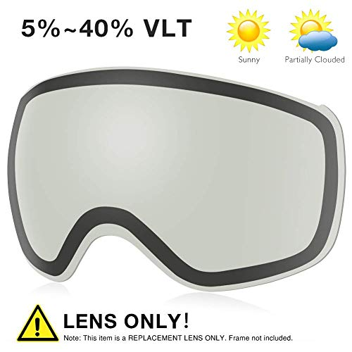 AKASO Ski Goggles PRO Replacement Lens (Polarized and Photochromic Lens(VLT (Pro Replacement Lenses)