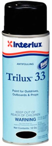 Antifouling Boat - Interlux YBA063A/16 Trilux 33 Aerosol Antifouling Paint - Black, 12 oz.