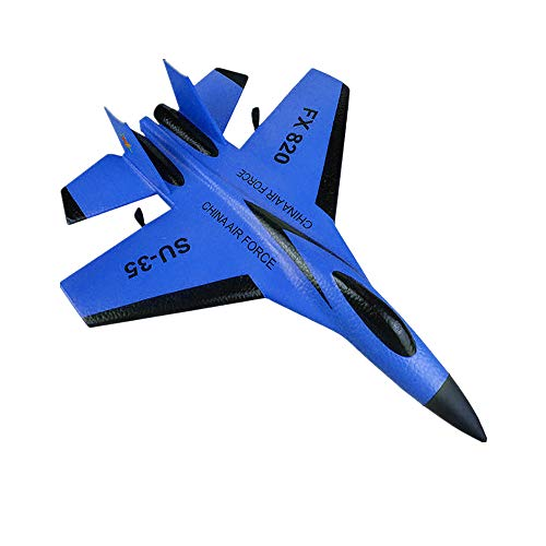 Slow Rebound SU-35 RC Helicopter 2.4GHz Plane Glider Airplane EPP Foam Remote Control Aircraft - Lift, Advance and Retreat, Turn, Side Fly, Fine-Tuning (Blue)