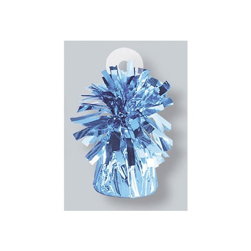 Foil Balloon Weights Light Blue Package of 6 (Light Blue Balloon Weights)