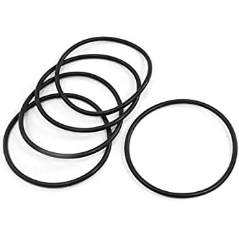 Uxcell 110mm Od 5mm Thickness Rubber Oil Filter Seal Gasket O Rings