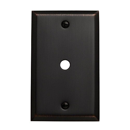 Beveled Edge Cable - Baldwin 4764.112.CD Classic Square Beveled Edge Cable Cover, Venetian Bronze
