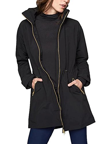 Zip Hooded Anorak - Blooming Jelly Women's Zip Lightweight Loose Hooded Waterproof Active Outdoor Rain Jacket (S, Black)