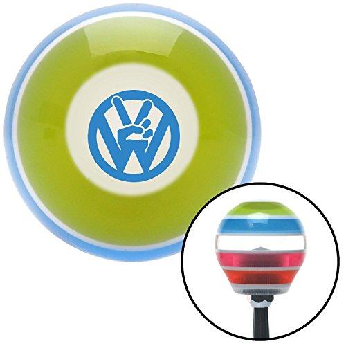 American Shifter 272713 Shift Knob (Blue VW Peace Stripe with M16 x 1.5 Insert)