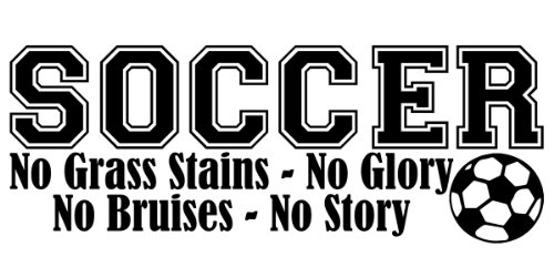 Soccer No Grass Stains Boy Lettering Decal Wall Vinyl Decor Sticker Room Sports
