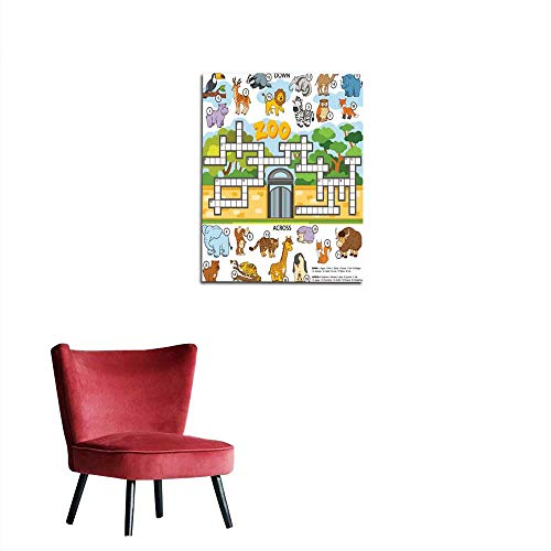 longbuyer Photographic Wallpaper Vector Color Crossword About Animals Mural 24