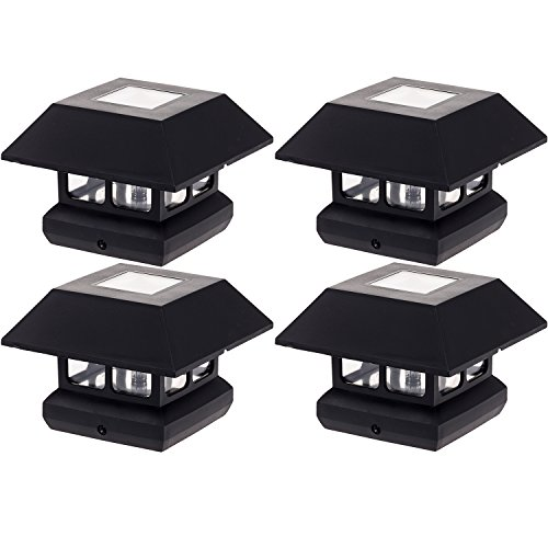 "GreenLighting 4"" x 4"" Solar Powered LED Post Cap Light (B..."