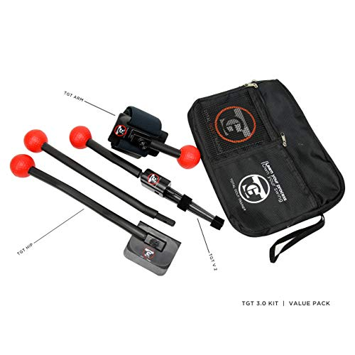 Total Golf Trainer 3.0 Kit – Golf Training Aids – Golf Swing Trainer – Teaches and Corrects Golf Swing, Posture and Hip Rotation, Wrist, Elbow and Arm Position