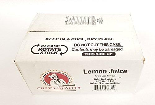 Lemon Juice Packets (200 count!) Always Fresh!