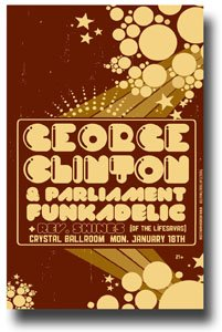George Clinton Poster Promo for a Concert - Parliament Funkadelic Brn
