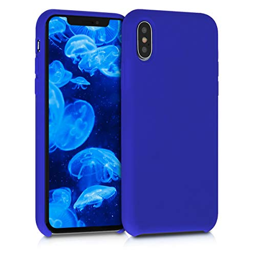 kwmobile TPU Silicone Case for Apple iPhone Xs - Soft Flexible Rubber Protective Cover - Royal Blue
