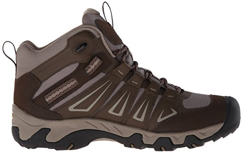 Keen Men's Oakridge Mid Wp High Rise Hiking Boots, Cascade/Brindle, 9.5 M US Brown (Cascade/Brindle Cascade/Brindle)