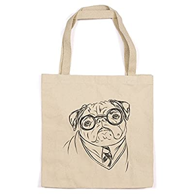 Pug Heavy Duty 100% Cotton Canvas Tote Shopping Reusable Grocery Bag 14.75 x 14.75 x 5 Harry Potter Gift