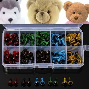 Kids Diy Handicraft Art - 100pcs 8mm 5 Colors Washers Plastic Safety Eyes Teddy Bear Doll Puppets Toys Handmade Craft Diy Tool - Safety Eyes Teddy - Solstice Eyewear