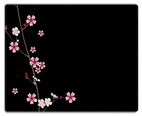 Designs Plum Blossom - Meffort Inc Mouse Pad with Stitched Edges & Non-Slip Base, Smooth Silk Surface Gaming Mousepad - Plum Blossoms Design