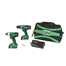 Factory-Reconditioned Hitachi KC18DGL 18V Cordless Lithium-Ion Impact and Drill Driver Combo Kit