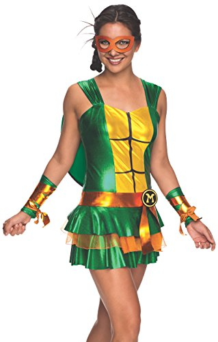 Secret Wishes Women's Teenage Mutant Ninja Turtles Michelangelo Costume Dress, Multi, Large (Ninja Turtles Costume For Women)