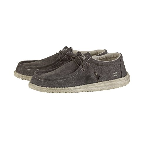 Hey Dude Mens Wally Chocolat Canvas Shoes 41 EU