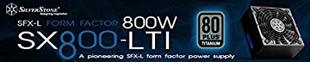 Baja sonoridad 120mm Fuente de alimentaci/ón 550W 80 Plus Oro Silverstone SST-SX550 Serie Strider SFX