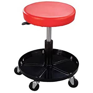 Pro Lift C-3001 Pneumatic Chair with Adjustable Height 15 to 20 inches 300 lbs Capacity - Black/Red