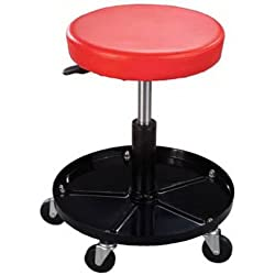 Pro-Lift C-3001 Pneumatic Chair with 300 lbs Capacity – Black / Red