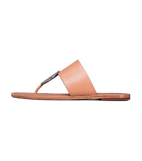 1b173f6d054b68 Tory Burch Patos Disk Natural Vachetta Sandal  Amazon.ca  Shoes ...