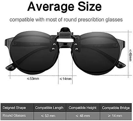 f879395799 Amazon.com  Splaks Round Clip-on Sunglasses
