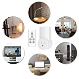 Etekcity Remote Control Outlet Wireless Light Switch for Household Appliances, Plug and Go, FCC ETL Listed, White (Fixed code, 3Rx-1Tx)