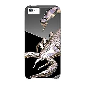 Excellent Design 3d Metallic Scorpion Phone Cases For Iphone 5c Premium Tpu Cases