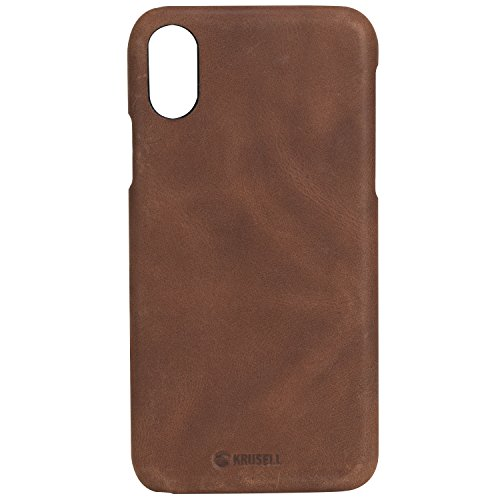 Krusell Cell Phone Case for Apple iPhone X - Vintage Cognac