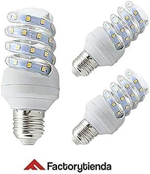 Diluxe LED - Pack x3 Bombilla led con forma de espiral de 20 watios(equivalente a 200 watios), 1360Lumen,casquillo gondo (E27) y luz Fría 6.400K: Amazon.es: Bricolaje y herramientas