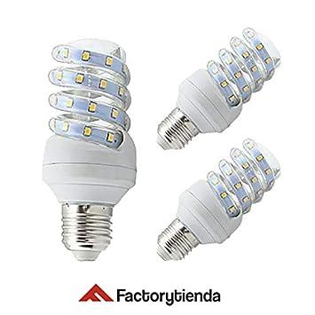 Diluxe LED - Pack x3 Bombilla led con forma de espiral de 20 watios (equivalente
