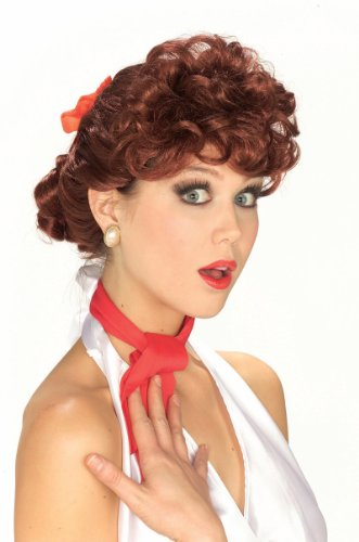 50s Pin Up Costumes (Forum Novelties Women's 50's Housewife Wig, Auburn, One Size)