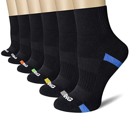 - BERING Women's Performance Athletic Quarter Socks for Running, Hiking, Work (6 Pair Pack)