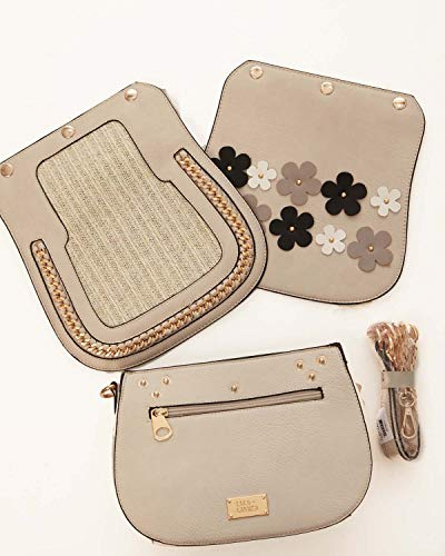 Coco Flap - Coco + Carmen Ivory Purse with 2 Cover Flaps & 1 Strap