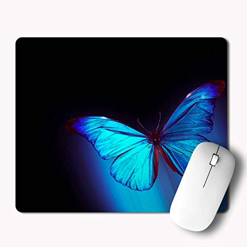 iKraft Beautiful Butterfly Mat Rubber Mouse Pad- 220x180x3mm, Printed Mousepad