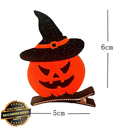 Gatton Premium New Kids Children Funny Headwear Pumpkin Bat Hair Clip Halloween Party Cosplay Decor | Style HRCL-M182012701 ()