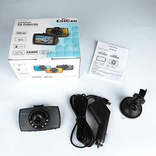 Caméra embarquée pour voiture HD, DVR, 1080p, avec vision de nuit, détection de mouvement, surveillance stationnement, grand-angle 170 °, caméra de tableau de bord de secours 2.7