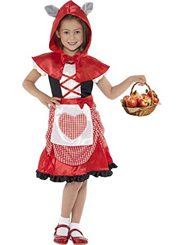 Large Red Girls Miss Hood Costume (Little Miss Riding Hood)