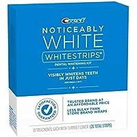 Crest Noticeably White Whitestrips Dental Teeth Whitening Kit 20 STRIPS