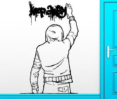Wall Sticker Vinyl Decal Keep Away Graffiti Urban Youth Teen Cool Decor VS2484