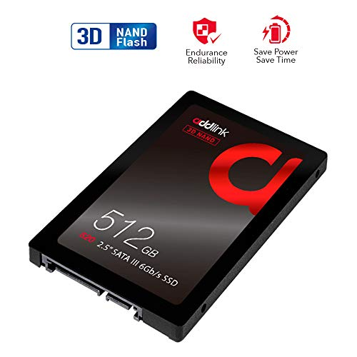 addlink S20 3D NAND SSD 512GB SATA III 6Gb/s 2.5-inch/7mm Internal Solid State Drive with Read 550MB/s Write 500MB/s (3D NAND 512GB)