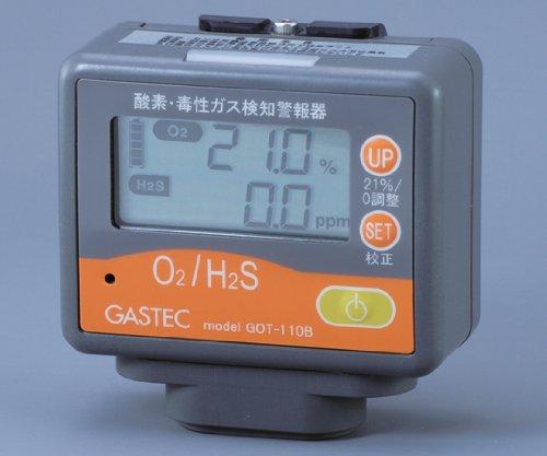 ガステック1-8220-11酸素毒性ガス検知警報器(酸素硫化水素) B07BD2VQ77
