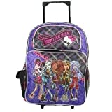 Monster High Rolling Backpack Roller Luggage School Book Bag Girls, Bags Central