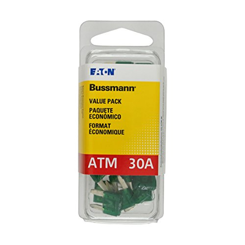 Bussmann (VP/ATM-30-RP) Green 30 Amp Fast Acting ATM Mini Fuse, (Pack of 25)