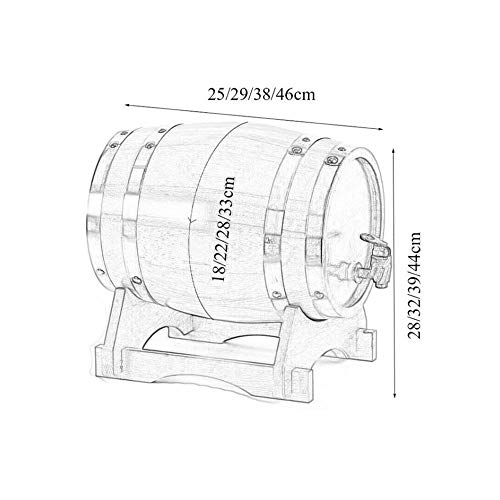 LHome American Oak Aging Barrel Age Your Own Tequila, Whiskey, Rum, Bourbon, Wine 1.32 Gallons Hotel Family Wine Barrel 3L/5L/10L/20L (Color : Style E, Size : 10L) by LHome (Image #1)