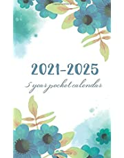 5 Year Pocket Calendar 2021-2025: Watercolor Floral Cover   2021-2025 Five Year Monthly Planner   60 Months Calendar Pocket Size with Holidays   Agenda Schedule Organizer   5 Year Appointment Book Mini   Business or Personal Time Management