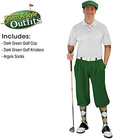 メンズselect-a-styleゴルフKnicker Outfit – ダークグリーン