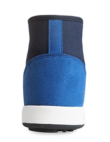 Mnx15 Donna Ascensore Scarpe Altezza Aumento 2.4 Oscar Navy Wedge Sneakers Tacco Alto Sneakers Navy