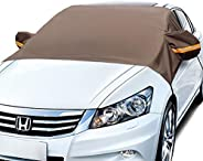 AstroAI Windshield Snow Cover, Car Windshield Cover for Ice and Snow Winter Protection for Cars and Compact SU
